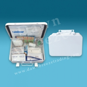 Office or Vehicle 25-Person First Aid Kit Metal Box
